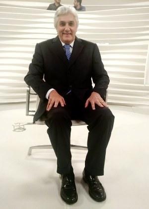 O senador cassado Delcídio do Amaral antes da entrevista ao programa Roda Viva