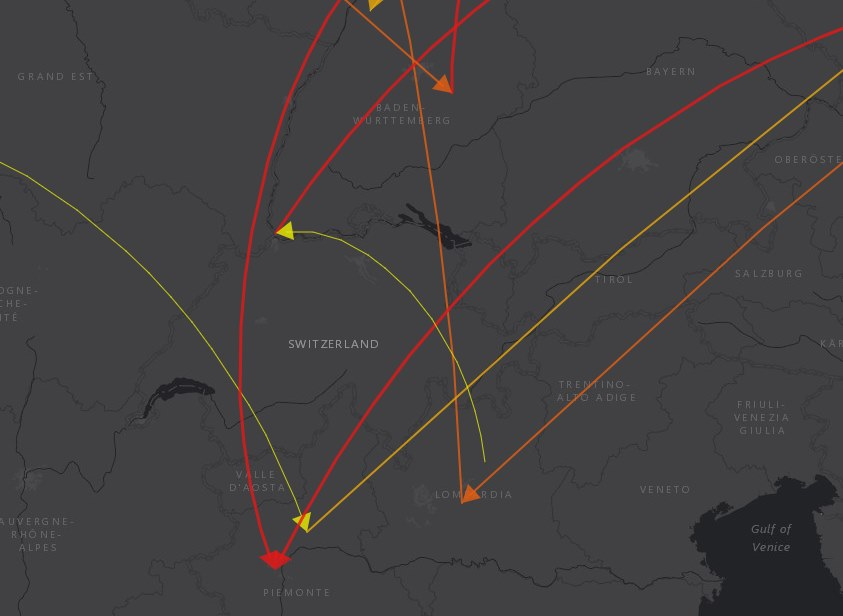 Carte géo-décisionnelle avec analyse par flux